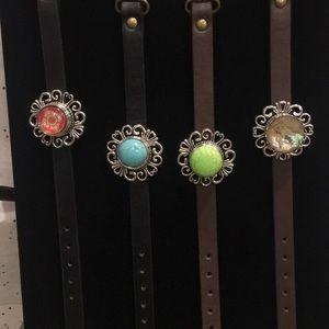 Jewelry - Leather watch style bracelets